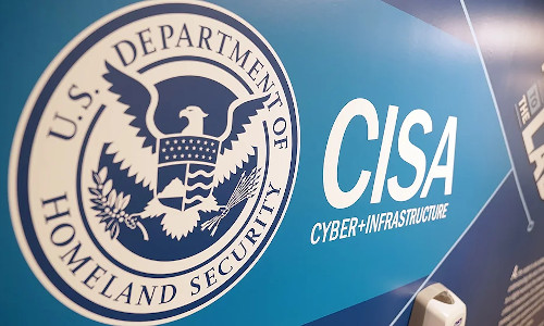 Sign in front of a U.S. Cybersecurity and Infrastructure Security Agency facility.